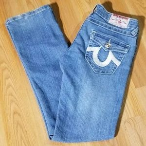 True Religion Joey Super T Embroidered Jeans